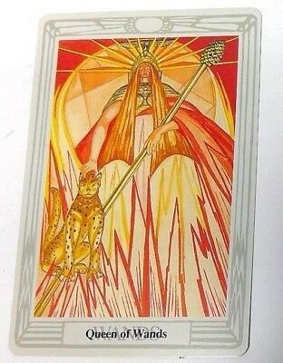 Queen of Wands single tarot card Crowley Large Thoth Tarot 1996 AGM Agmuller