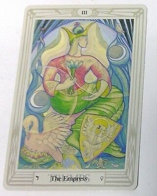 The Empress III single tarot card Crowley Large Thoth Tarot 1996 AGM Agmuller