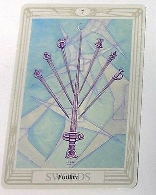 Futility 7 Swords single tarot card Crowley Large Thoth Tarot 1996 AGM Agmuller