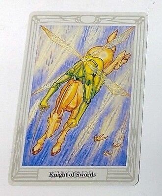 Knight of Swords single tarot card Crowley Large Thoth Tarot 1996 AGM Agmuller