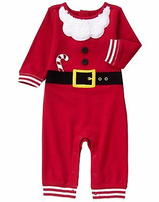 Gymboree Baby Santa Sleeper Size 0-3 Months Christmas Santa Suit Costume NEW
