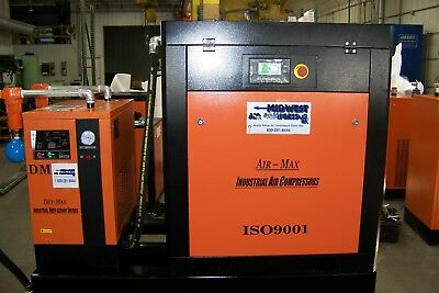 Air-Max  10hp. (NEW) Industrial Rotary Screw Compressor W/dryer/filters/120 tank