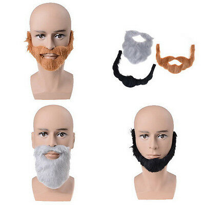 Fancy Dress Costume Party Halloween Costumes Fake Mustache Funny Beards YT