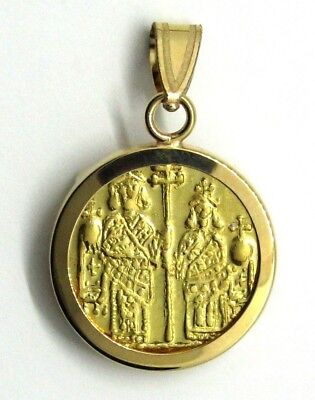 Leo the wise 22 Karat Gold Byzantine-type Coin Pendant Christmas Special 17mm
