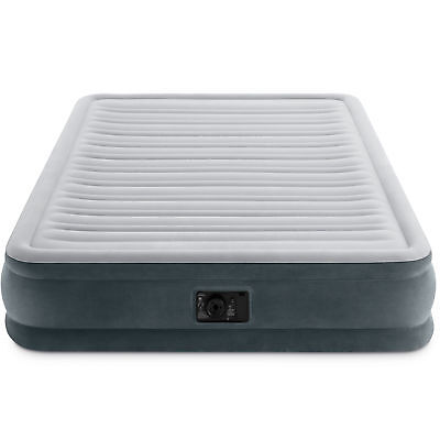 Intex PVC Dura-Beam Series Mid Rise Airbed with Built In Electric Pump, Queen