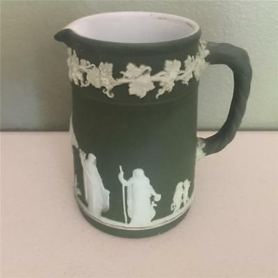 Wedgwood Antique Dark Olive Green1925 Pitcher- 042 - 4""