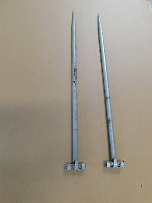 "2 Vintage 24"" Original Antique Aluminum Barn Farm Building House Lightning Rods"