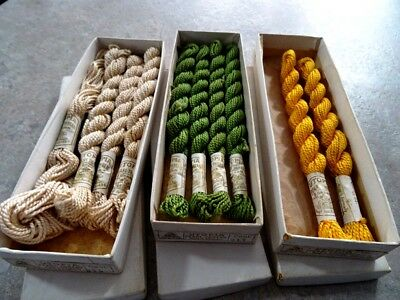 1884 antique GENERAL STORE DISPLAY THREADS UTOPIA skeins GERMANY ORIGINAL BOXES