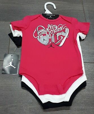 Unisex 3 pack of Nike Jordan baby vests/bodysuits. 3-6 months. New with tags.