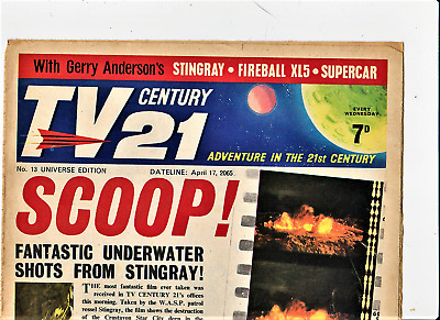 TV CENTURY 21 # 13 April 17 1965/2065 Stingray/Daleks/Fireball xl5/Lady Penelope