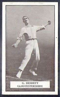 Gallaher-Famous Cricket Ers-#043- Gloucestershire - Dennett