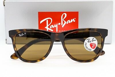 e77add0283 NEW RAY-BAN RB4184 POLARIZED SUNGLASSES 710 83 Havana Tortoise   Brown  Classic