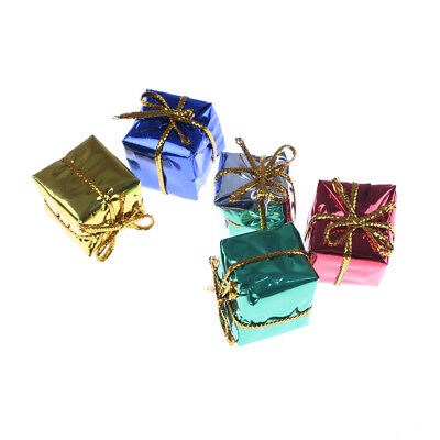 10pcs Christmas Dollhouse Miniature Box Decoration Gift Toy Xmas Tree Ornament