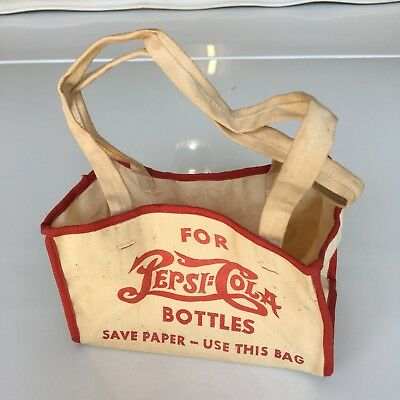 Pepsi Cola Cloth Soda Carrier - War Issue