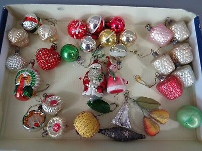 Excellent Collection of 32 Vintage/Antique Christmas Decorations/ Baubles