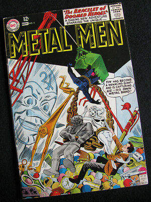 Metal Men 4 (1963) Tin Is Stalked By An Alien Robot Queen! Fn-! Large Photos!