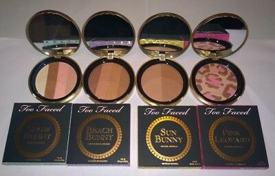 Too Faced Bronzer Pink Leopard Beach Sun Snow Bunny - New in Box - You Choose