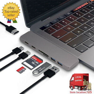7 in1 USB-C 3.1 Hub Type-C Multiport Adapter 4K HD Card Reader for MacBook Pro