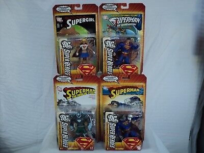 DC Classics Super Heroes SUPERMAN 4 figure set! Bizarro Doomsday Supergirl T 350