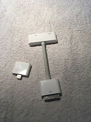 Apple HDMI Adapter Ipad 1,2,3,4 Inkl. Lightning Adapter