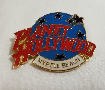 Planet Hollywood Pin Myrtle Beach Globe And  Stars