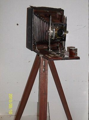 Antique Conley plate camera red bellows