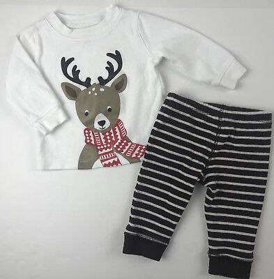 df6336f5a585 CARTER S BABY BOY outfit Christmas reindeer Rudolph Pajama Shoes ...