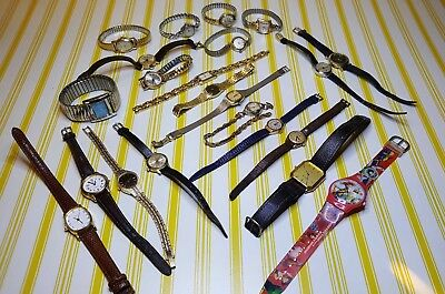 Collection Of Vintage Ladies Wrist Watches. Wind Up And Quartz. All Untested