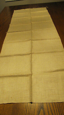 Vintage Ivory White  Glass Linen Toweling Fabric For Embroidery 17x53  J24