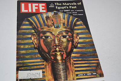 Vintage April 5, 1968 Life Magazine - The Marvels of Egypt's Past on Cover