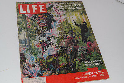 Vintage January 25, 1960 Life Magazine - Treasury of Colonial Tales on Cover