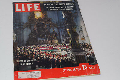 Vintage October 27, 1958 Life Magazine - College of Cardinals on Cover