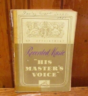 His Master's Voice Recorded Music - 1941 Edition