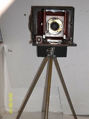 Antique [ conley?]  red bellows plate camera
