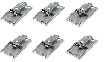 6 x Metal Mouse Trap Mice Catcher Classic Style Pest Rodent Bait Snare Control