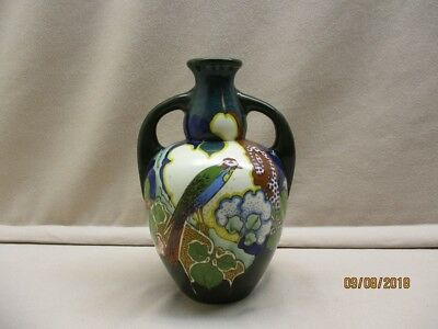 Gouda pottery amphora vase marked Ivora Holland, production period 1915-1930.