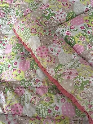 Vintage Reversible Feather Eiderdown With Patchwork Design