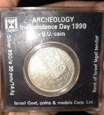 1990 Israel Archeology Independence Day Commemorative Silver Proof Coin