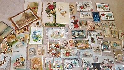 Lot of 40+ pieces Antique Trade Cards & Other Ephemera Mixed