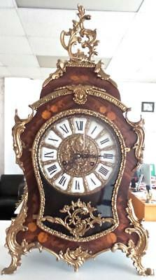 Superb XL Vintage Boulle Ting Tang Double Bell Bracket / Table clock by FHS