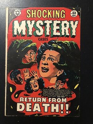 Shocking Mystery Cases #55 (Jul 1953, Star Publications) LB Cole Cover VG+