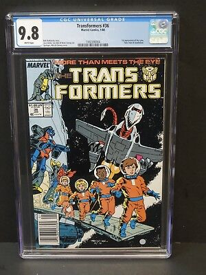 MARVEL COMICS TRANSFORMERS #36 1988 CGC 9.8 WHITE PAGES NEWSSTAND 1st SKY LYNX