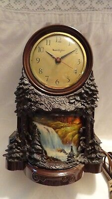 Vintage Master Crafters Waterfall Model 344 Motion Lamp Clock Works
