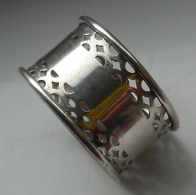 EARLY 1900s SILVER PLATED NAPKIN RING-COOPER BROS-WORN!