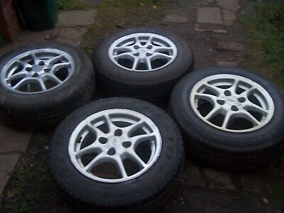 Used Scrap  Alloy Wheels With Tyres Ford Fitment   Tsw  Uk Bidders Only