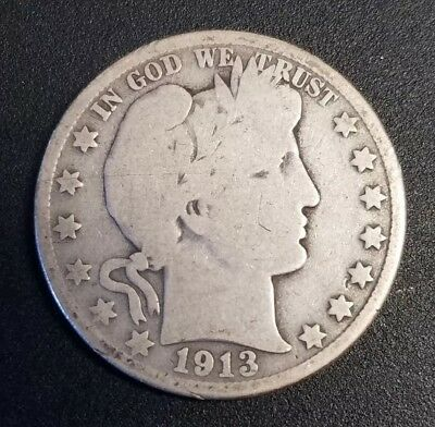 1913-D Barber Half Dollar Good-VG