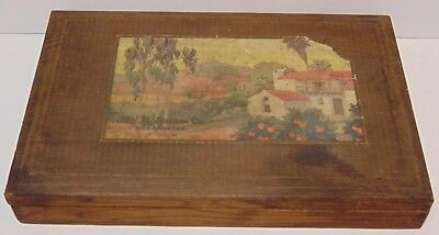 Antique Vintage 1920s J.W. ROBINSON COMPANY LOS ANGELES CA ADVERTISING WOOD BOX