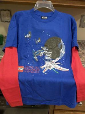 New LEGO STAR WARS T-Shirt  Sz 16-18 Lucasfilm Ltd  100% Cotton Long Sleeve