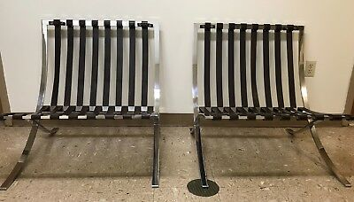 Barcelona chair frames/straps- manufactured by Knoll- 1975- VERY GOOD condition