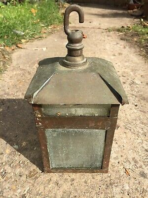 Handmade copper and glass light / lantern with bayonet fitting